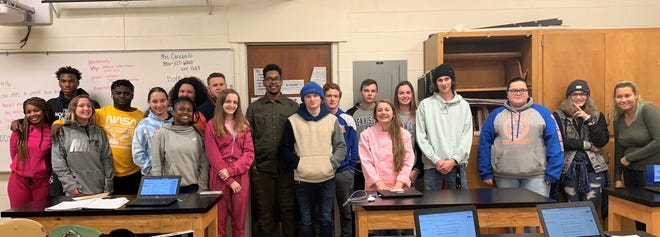 Millville High School culinary arts students recently took an opportunity to use their skills to show appreciation to staff members who have helped them during their high school career.