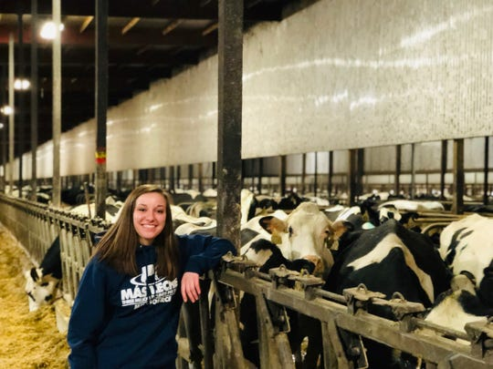 Cayley Vande Berg has gained much experience in the dairy industry through her employment at Rosendale Dairy, the state's largest dairy farm.