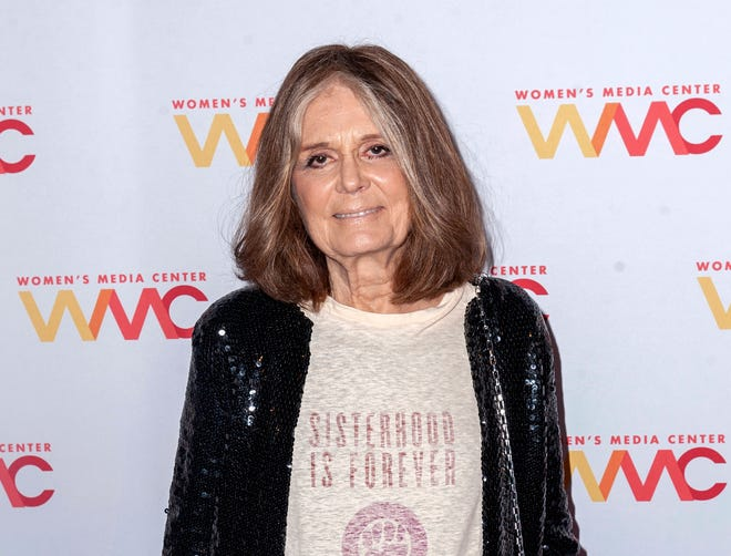 "Gloria Steinem at the 2019 Women's Media Awards in New York. The 100th anniversary of the 19th Amendment that guaranteed women's right to vote in the United States is being celebrated in a variety of programming by PBS this summer. Steinem is featured in Great Performances ""Gloria: A Life."""