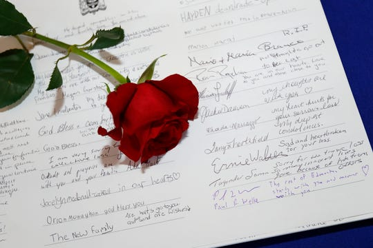 Edmontonians left condolences in a book at the Edmonton City Hall for the people on the Ukraine International Airlines flight that was shot down in Iran.