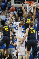 Seton Hall Pirates guard Shavar Reynolds (33) shoots the ball vs. Marquette