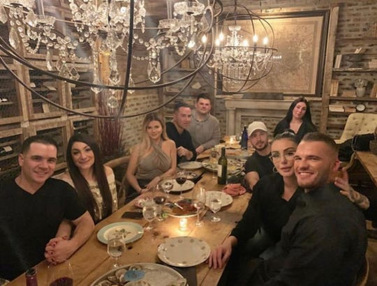 "Cast members of MTV's ""Jersey Shore Family Vacation"" at the Butcher's Block in Long Branch on Saturday, Jan. 11."