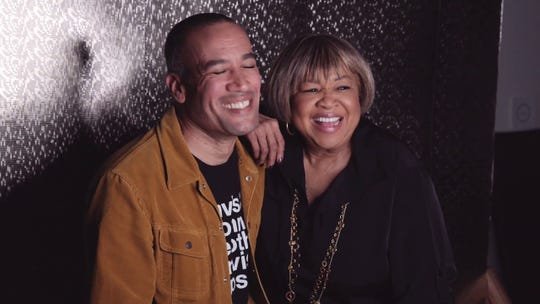 "Mavis Staples with Ben Harper, who wrote the songs for her latest album, ""We Get By."""
