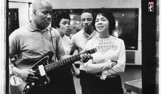 Mavis Staples (right) during the early days of the Staple Singers.