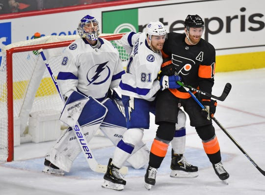 The Flyers went 0-for-3 on the power play against the Tampa Bay Lightning and are 0-for-11 in their last four games.