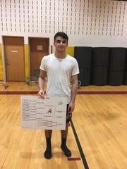 Bound Brook wrestler Alex Martinez