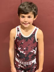 Chase Falcone, 8, wrestles in his native Verona