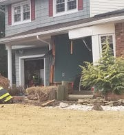 A South River man was in stable condition after crashing a van into a house at 21 Buck Road in East Brunswick Saturday and ending up in the basement.