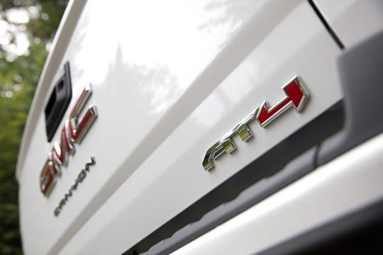 Tailgate of 2021 GMC Canyon midsize pickup