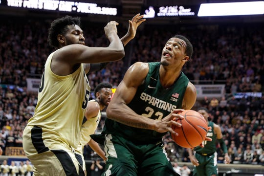 """""""We had some bad mistakes but at the same time they (Purdue) were hot,"""" Michigan State forward Xavier Tillman says about the Spartans' 29-point drubbing by the Boilermakers Sunday."""