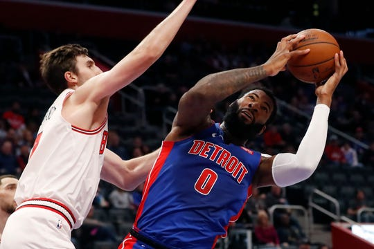 Pistons' Andre Drummond was ejected in the second half after replays showed him throwing the ball off the back of Bulls center Daniel Gafford's head.