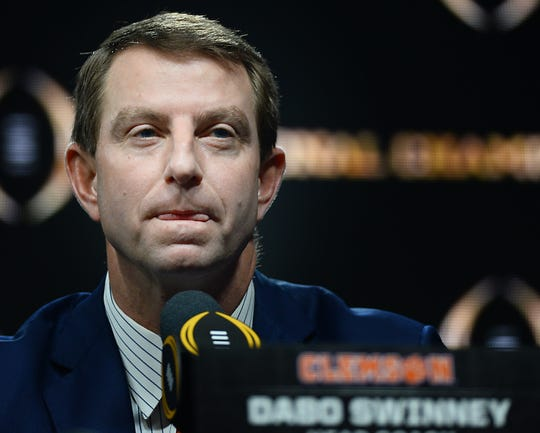 The College Football Playoff National Championship Head Coaches News Conference was held on Jan. 12, 2020 at the Grand Ballroom in the New Orleans Sheraton Hotel. Clemson's Head Coach Dabo Swinney made remarks and took questions from the press.
