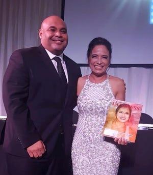 Lt. Gov. Joshua Tenorio poses with Annmarie Muna at the Guam Business Magazine gala on Saturday, Jan. 11 at the Hyatt Regency Guam.