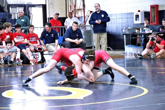 The annual Greg Lavergne Parish Duals Championships is held at Carencro High School Saturday, Jan. 11, 2020.