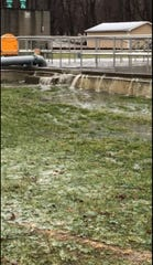 The City of Mason reported its wastewater treatment plant was overflowing into the Sycamore Creek on Saturday during a winter storm that hit the Lansing area.