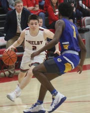 Shelby's Grant Hiatt made a buzzer-beating layup to help Shelby knocked off Ontario on Saturday night.
