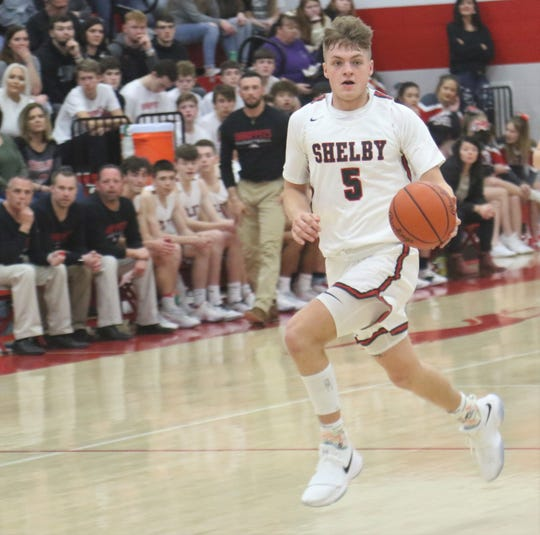 Shelbys' TJ Pugh's double-double helped the Whippets improve to 11-1 overall.