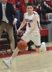 Shelby's Grant Hiatt's buzzer-beating layup helped the Whippets pull off a 19-point comeback in a win over Ontario.