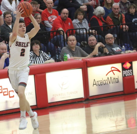 Shelby's Grant Hiatt has the Whippets looking to clinch the Mid-Ohio Athletic Conference championship this weekend.