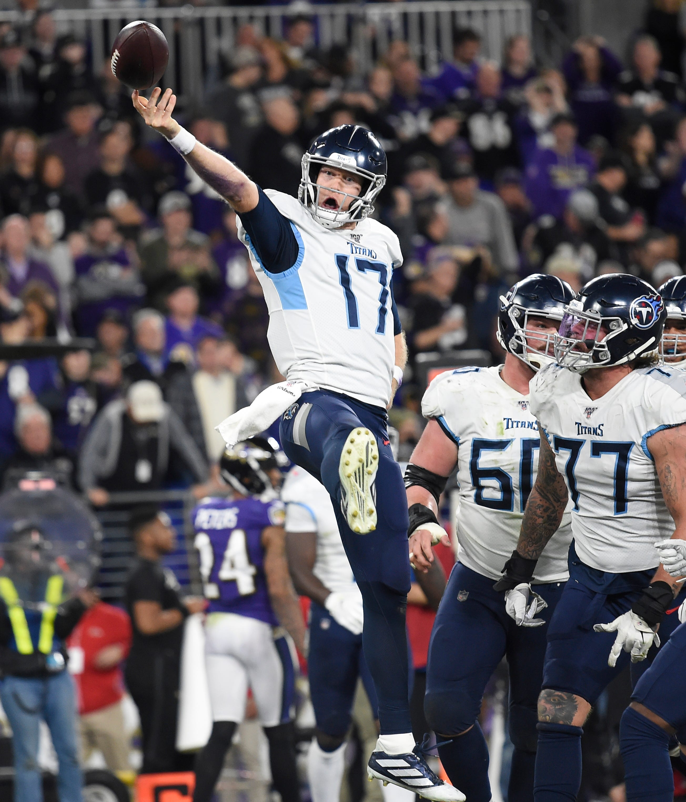 Titans stun top-seeded Ravens, seal spot in AFC Championship Game