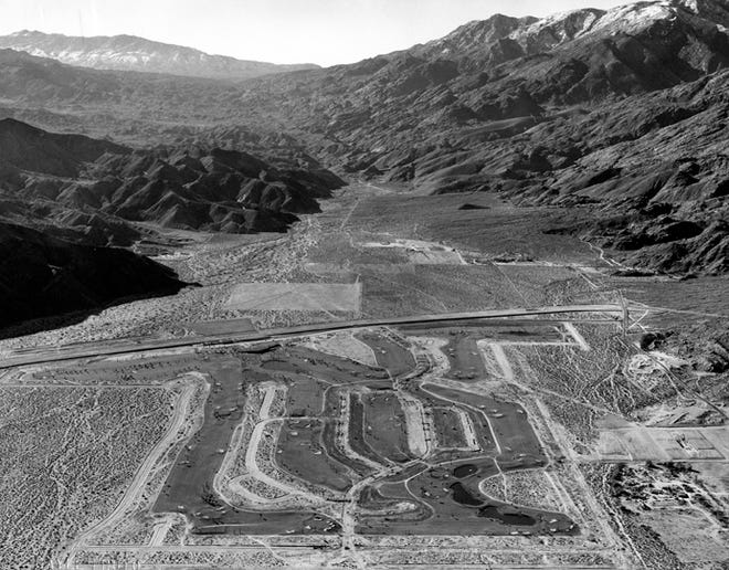 Aerial of Canyon Country Club showing extent of the huge project.