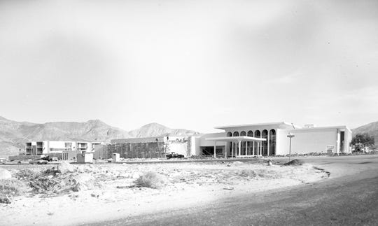 Canyon Club Inn, later renamed the Canyon Hotel, just finishing construction. Photographed by William Plachta.