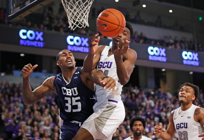 Scenes from Grand Canyon University's basketball game against California Baptist on Jan. 11, 2020, at Grand Canyon University Arena.