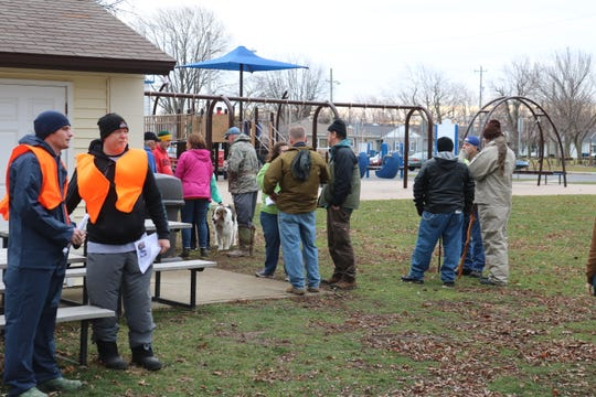 Volunteers were asked to gather and sign in at Lakeview Park in Port Clinton beginning at 9 a.m. Jan. 11. From there, organizers dispersed groups of around five each to search various sections of the city to cover as much ground as possible.
