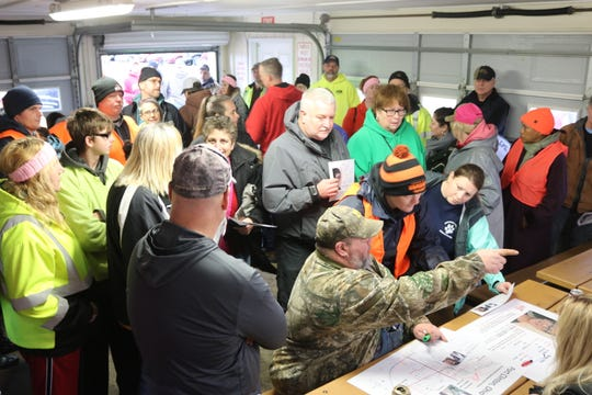 More than 120 people turned out to participate in the volunteer search for missing teen Harley Dilly on Saturday.