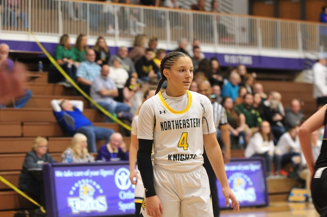 Northeastern freshman Taylor Farris (4) picked up her first Division I offer from Niagara University last week.