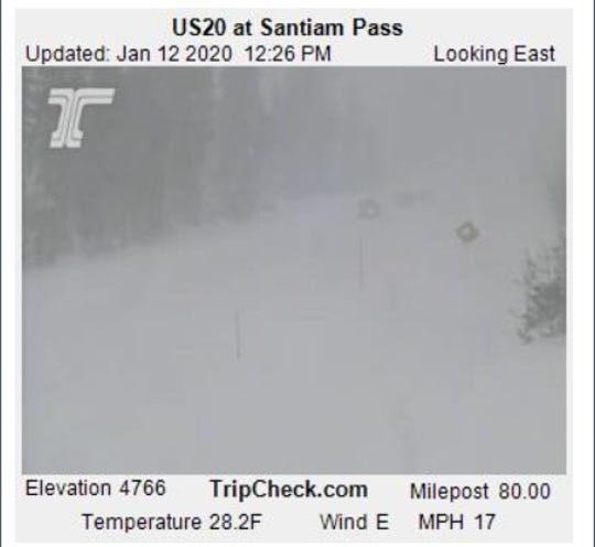 Snow has been coming down hard in Oregon's mountains over the weekend.