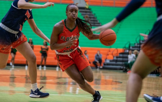FAMU junior guard Kailya Jackson drives to the basket versus Morgan State. She scored nine points against the Bears on Saturday, Jan. 11, 2020.