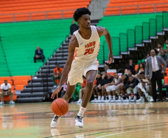 FAMU junior forward D.J. Jones netted 11 points and collected six rebounds in the 77-78 win over Morgan State on Saturday, Jan. 13, 2020.