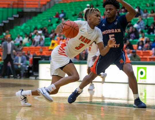 FAMU guard M.J. Randolph scored a game-high 19 points in leading the Rattlers to a 77-68 win over Morgan State on Saturday, Jan. 11, 2020.