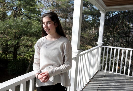 Danielle Kohn, 16, a junior at Scarsdale High School, is Westchester County's first youth poet laureate. Kohn, photographed Jan. 12, 2020, is also a visual artist.