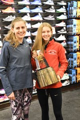 Mary Cain and Katelyn Tuohy, pictured here in 2018, will race against each other at the Sander Invitational's 3K race later this month.