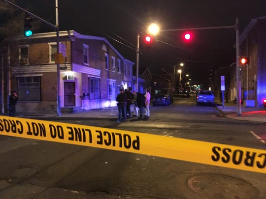 Police investigate a shooting at the 700 block of North Spruce Street in Wilmington.