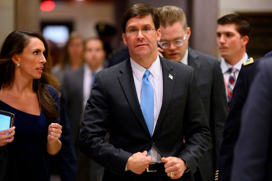Defense Secretary Mark Esper said the Army Corps of Engineers will help New York build more space for hospital beds amid a surge in coronavirus cases.