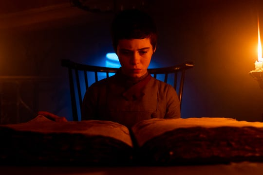 """It"" actress Sophia Lillis plays a teen girl whose brother wanders into the home of a witch in ""Gretel & Hansel."""