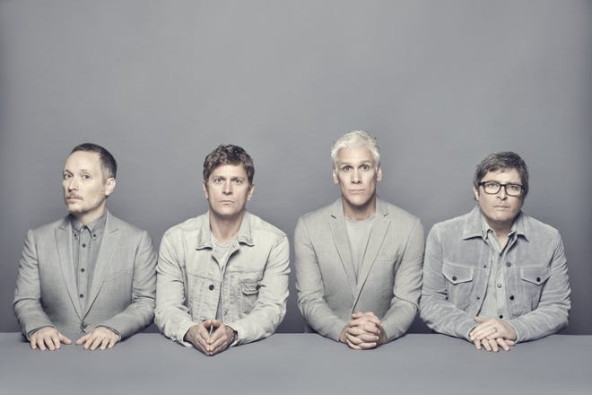 Matchbox Twenty members Paul Doucette, left, Rob Thomas, Kyle Cook and Brian Yale.