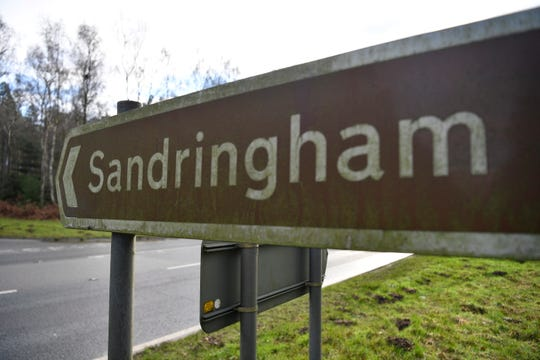 A sign to the Britain's Queen Elizabeth II's Sandringham Estate, Britain.