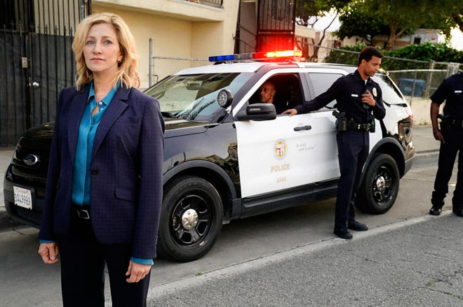 "Edie Falco as Chief Abigail ""Tommy"" Thomas in ""Tommy"" on CBS."