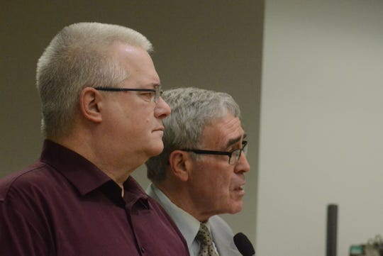 Michael Campbell, left, with his attorney, J. Thomas Schaeffer.