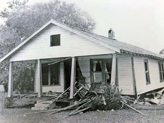 A bomb was placed under the bedroom of Harry T. and Harriette V. Moore on Dec. 25, 1951, in Mims, killing Harry that day. Harriette died nine days later. The master bedroom, front right, had a bomb placed under it by members of the Ku Klux Klan.