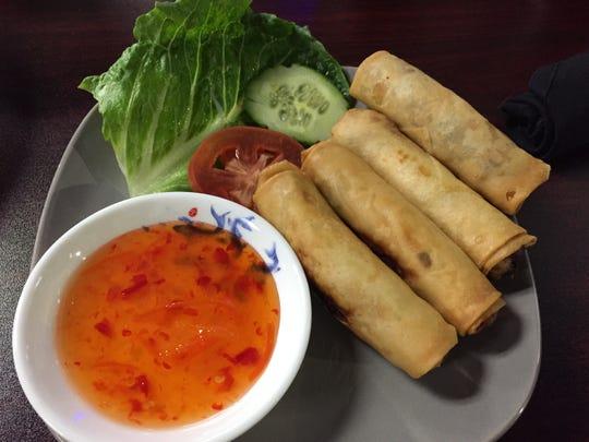 Egg rolls at Saigon Kitchen in Burlington.