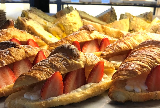 Strawberry croissants are a popular item at Tous Les Jours, a new bakery in Cherry Hill with French-Asian inspired baked goods.