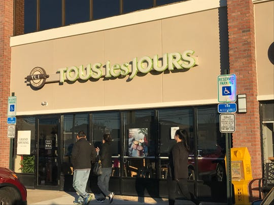 Customers enter Tous Les Jours, a new bakery on Haddonfield Road in Cherry Hill.