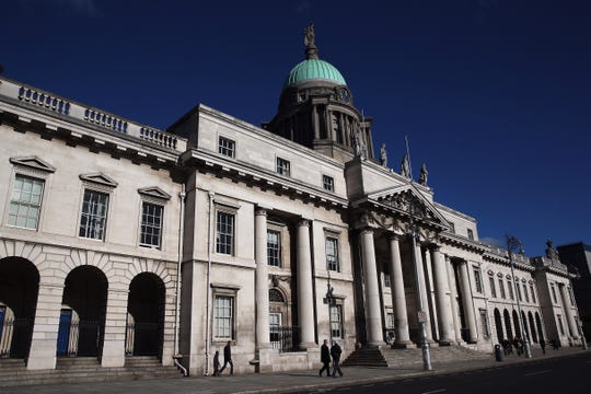 Custom House in Dublin, Ireland. The 18th century building is home to the Department of the Environment, Community and Local Government.