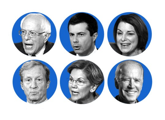 Six candidates will participate in the Jan. 14 Democratic debate in Des Moines, Iowa, but many more will appear on California ballots.