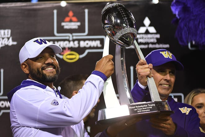 Sept. 5: Michigan at Washington. Quick fact: The Huskies will be led by new head coach Jimmy Lake, left, who was previously the team's defensive coordinator.